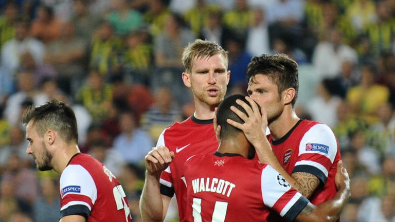 Theo Walcott: Becomes the subject of Olivier Giroud's affections