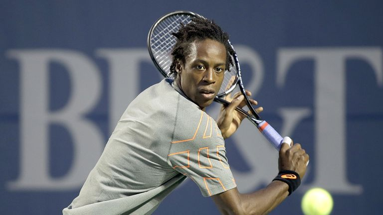 Gael Monfils: Needed treatment in the first set on a left hip injury