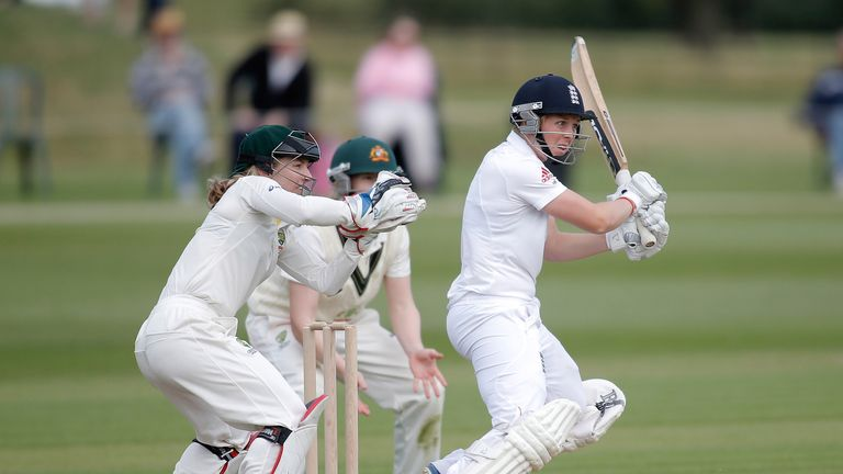 Heather Knight: Kept Australia at bay with an unbeaten 85 for England on day two