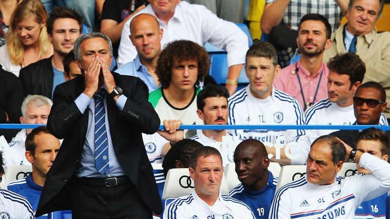 Jose Mourinho: Chelsea boss was given a rousing reception