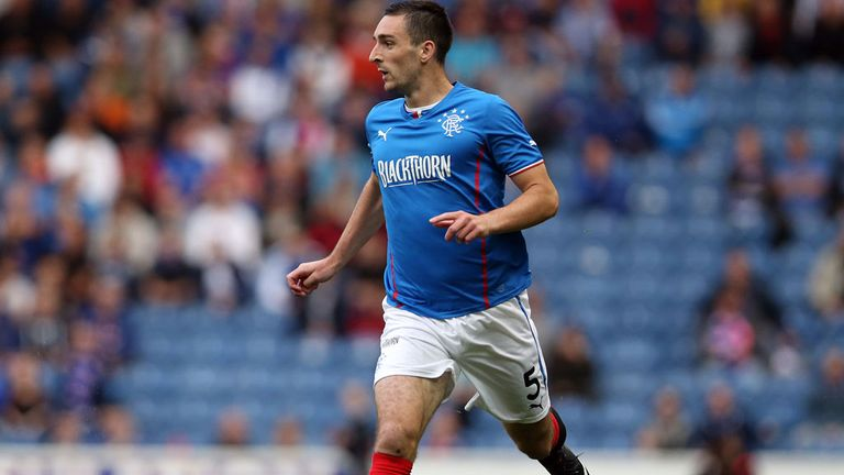 Lee Wallace in action during Tuesday's friendly against Newcastle at Ibrox which ended in a 1-1 draw