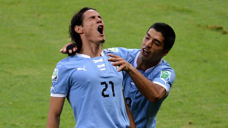 Uruguay duo Edinson Cavani (left) and Luis Suarez set to face Northern Ireland