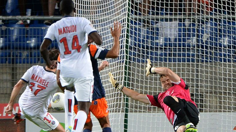 Maxwell: Drives home PSG's equaliser against Montpellier