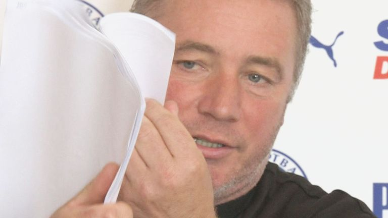Ally McCoist: Holds up a list which he claims has 100 names of people in Scottish football who like to bet