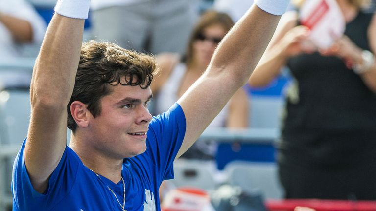Milos Raonic: Battled his way into the semi-finals of the Rogers Cup