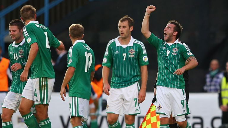 Martin Paterson: Celebrates scoring the only goal at Windsor Park