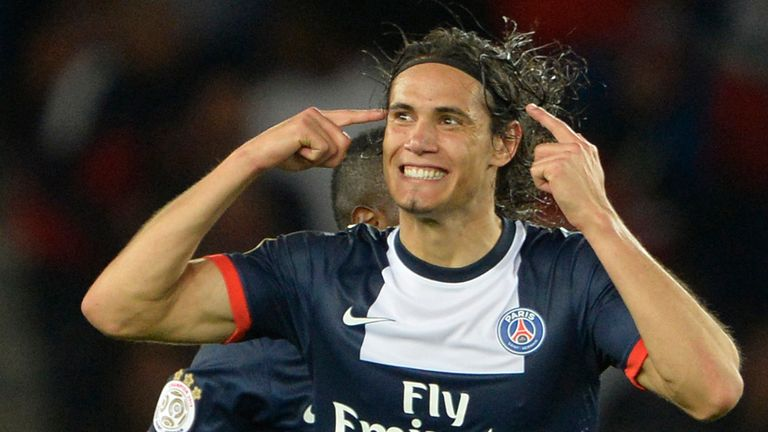 Edinson Cavani: Scored first goal for Paris Saint-Germain against Ajaccio