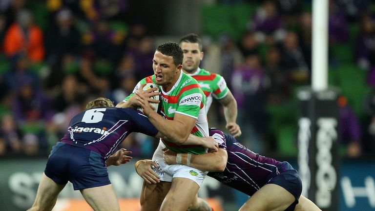 Sam Burgess: Could play alongside brothers Luke, George and Tom in Friday's NRL clash