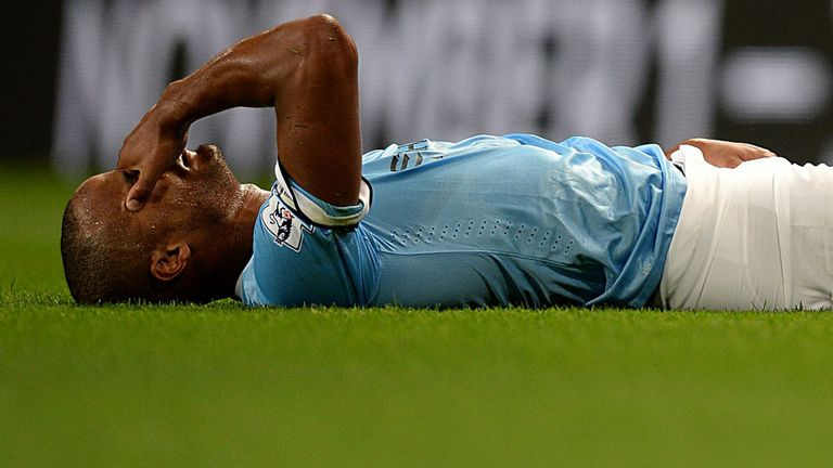 Vincent Kompany: Injured during City's opener