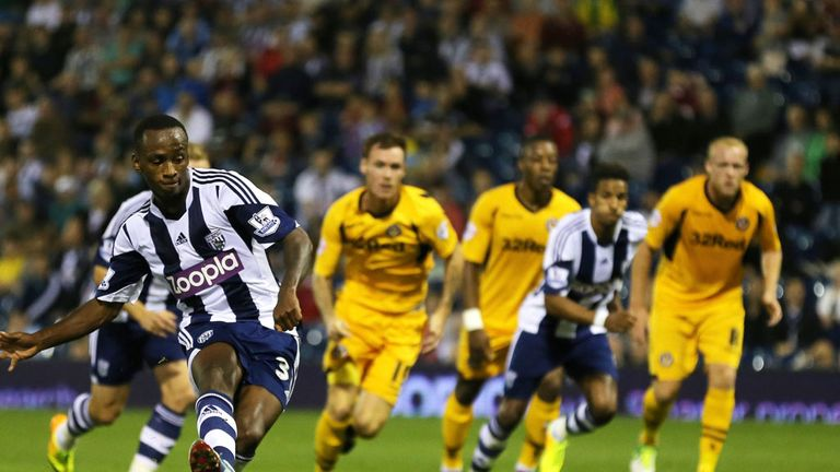 Saido Berahino: Slots home his penalty at The Hawthorns