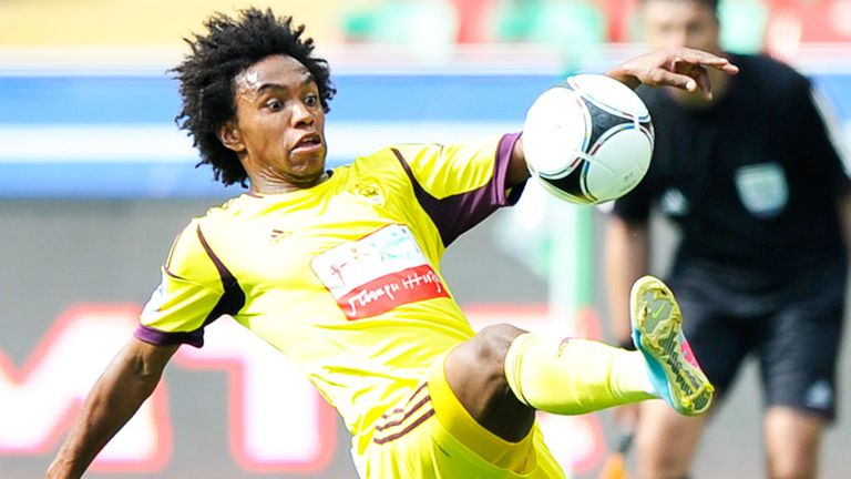 Willian: Anzhi Makhachkala midfielder is in talks with both Chelsea and Tottenham