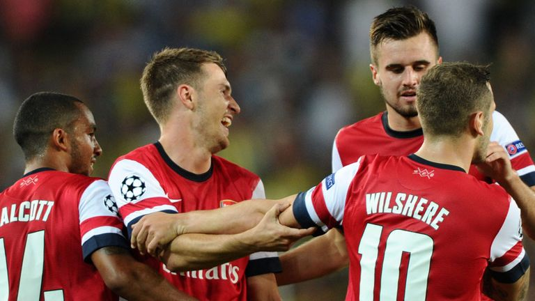 Aaron Ramsey: Something to cheer at last for the Gunners