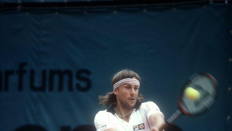 Bjorn Borg in tennis action
