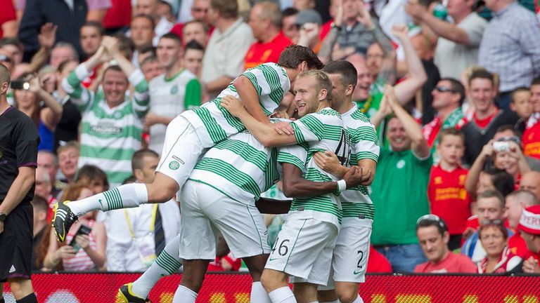 Young Hoops celebrate Balde's winner in Dublin