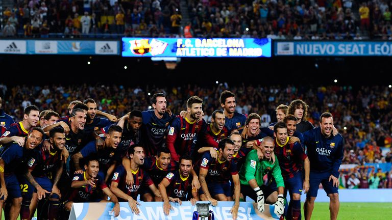 Barcelona: Celebrate after reclaiming the Spanish Super Cup