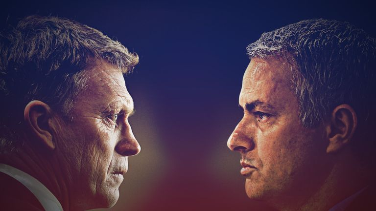 David Moyes goes up against Jose Mourinho on Monday night