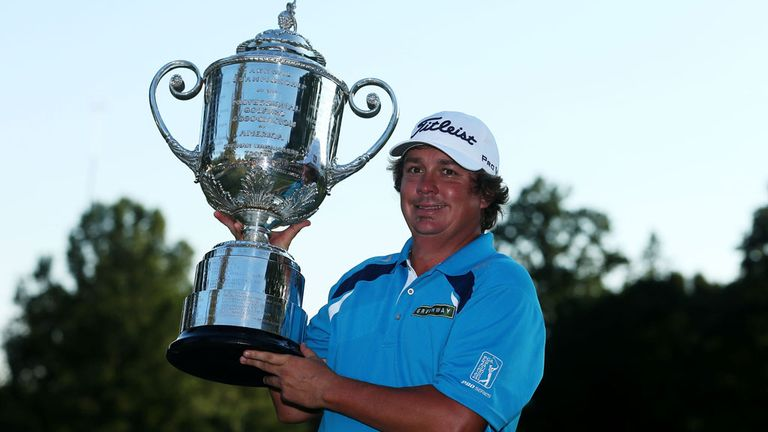 2013 champion Jason Dufner with the US PGA trophy