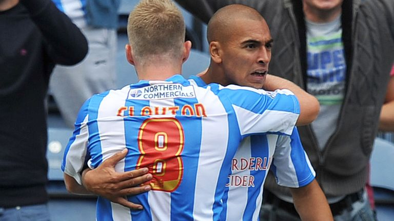 James Vaughan (right): Praised by Huddersfield captain