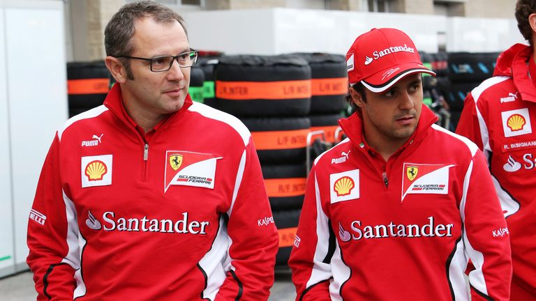 Stefano Domenicali and Felipe Massa in the paddock
