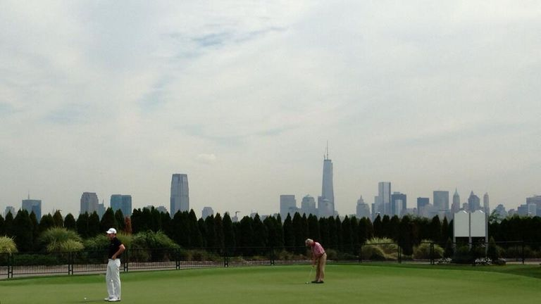 View of Liberty National posted by Graham DeLaet on Twitter