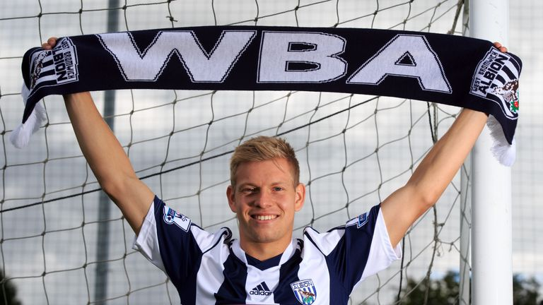 Matej Vydra: First chance in Premier League with West Brom Credit: West Bromwich Albion