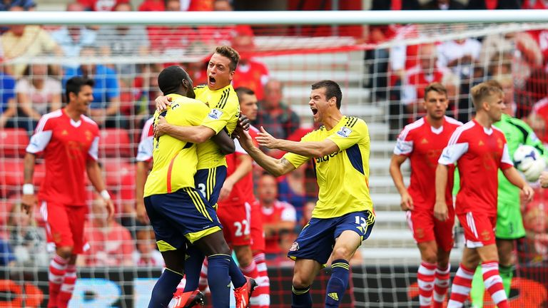 Emanuele Giaccherini: Celebrates his first Sunderland goal