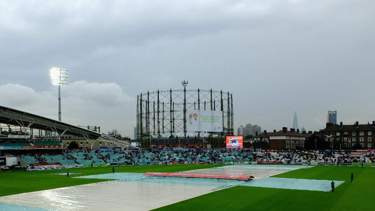 Heavy rain looks set to frustrate Ashes fans at The Oval.