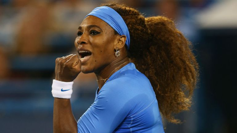 Serena Williams: Overcame Li Na 7-5 7-5 to reach final