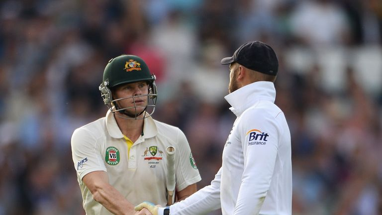 Steve Smith: Leaves the field after his 138 not out in the fifth Ashes Test
