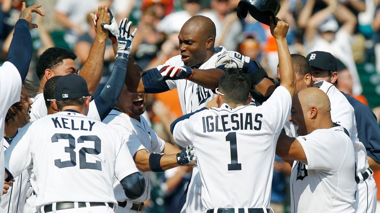 Torii Hunter: Hit a three-run walk-off homer as the Detriot Tigers stunned the Oakland Athletics
