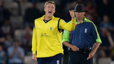 Danny Briggs: Has extended his Hampshire contract until 2015