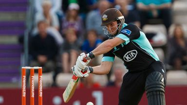 Gary Wilson: Helped Surrey to a last-ball win over Derbyshire