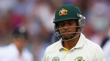 Usman Khawaja: Dismissed in controversial fashion