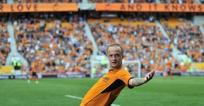 Leigh Griffiths: Celebrates goal for Wolves against Gillingham