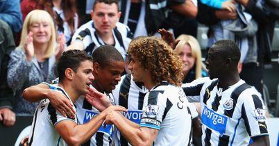 Hatem Ben Arfa: Celebrates after scoring