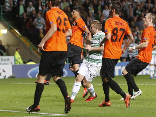 James Forrest scores the crucial third goal for Celtic