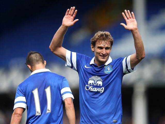 Nikica Jelavic: Could start for Everton