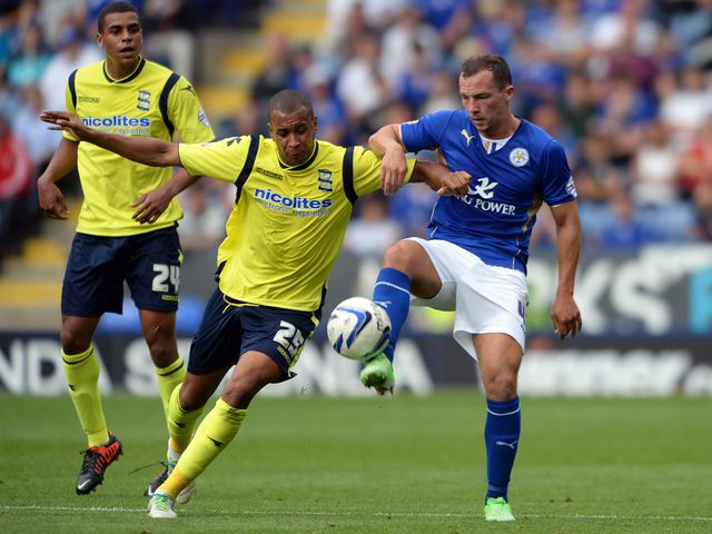 Matt Green and Danny Drinkwater tangle.