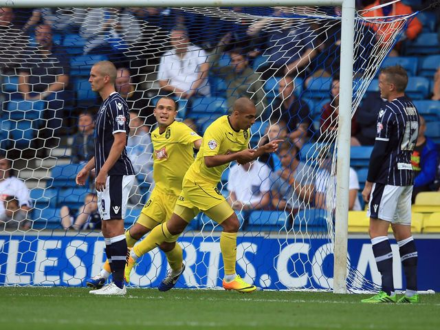 James Vaughan scored the winner for Huddersfield