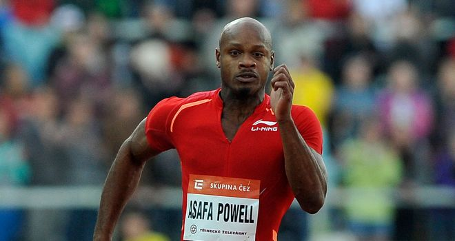 Asafa Powell: tested positive for the banned stimulant oxilofrine