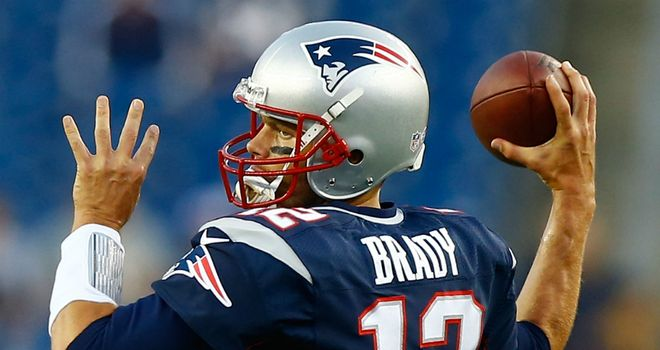 Tom Brady: completed 11 of 12 passes before making way for Ryan Mallett