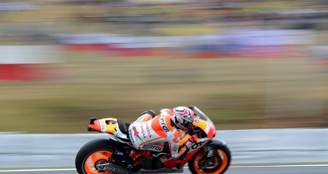Marc Marquez: Topped the combined timesheets on day one in Aragon
