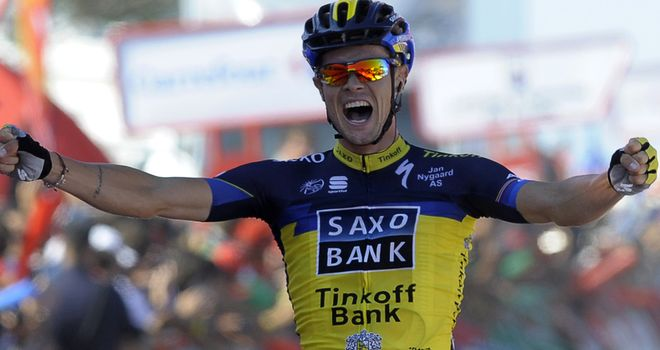 Nicolas Roche climbed to the biggest win of his career