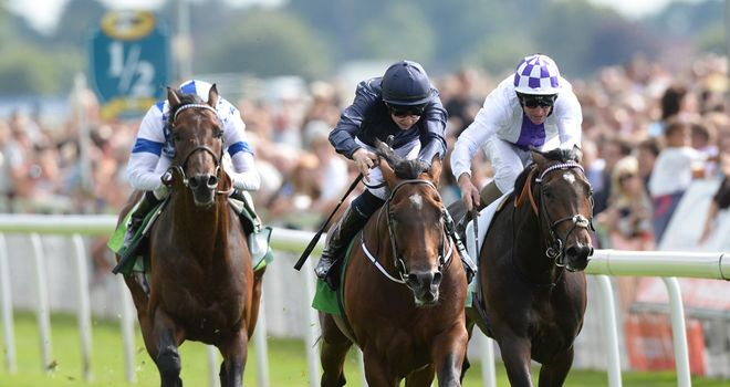 Declaration Of War leads them home in the Juddmonte