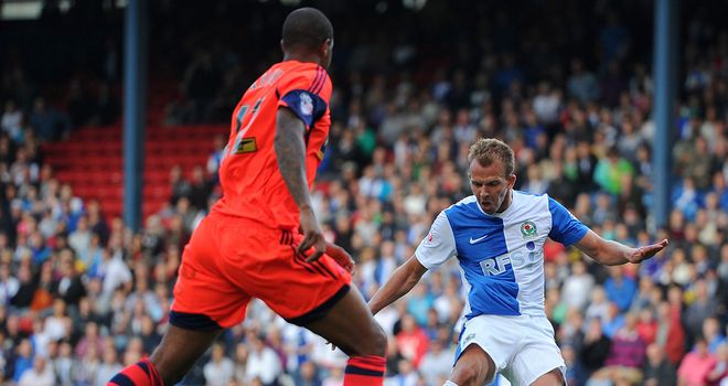 Jordan Rhodes: Claims his first of two goals
