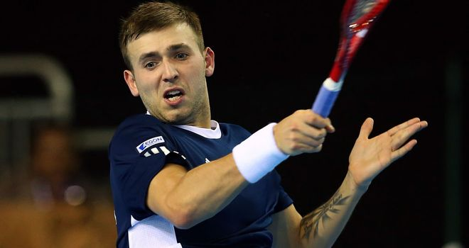 Dan Evans: made it through grand slam qualifying for the first time