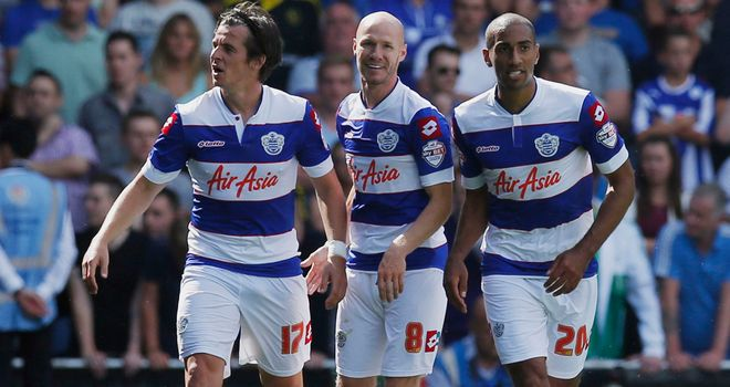 Andrew Johnson: Celebrates scoring the winning goal for QPR