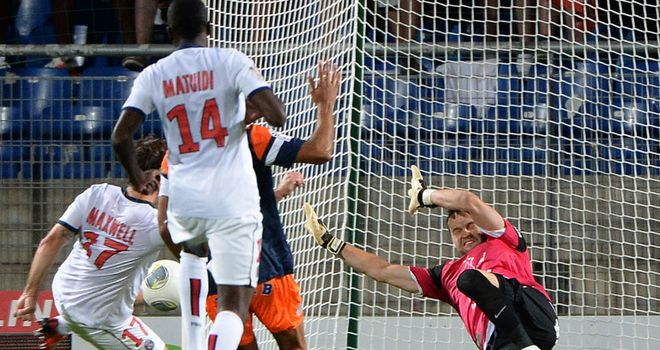 Maxwell: Drives home PSG's equaliser against Montpellier
