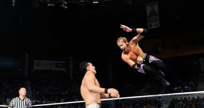 Del Rio and Christian: battled each other on Smackdown