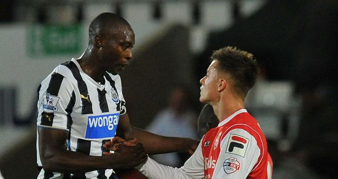 Shola Ameobi helped Newcastle edge past Morecambe